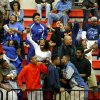 Millwood fans celebrate Millwood\'s win in a Class 3A boys state basketball tournament game between Hugo and Millwood at Yukon High School in Yukon, Okla., Thursday, March 7, 2013. Photo by Bryan Terry, The Oklahoman