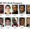 ** FOR USE AS DESIRED WITH NFL DRAFT STORIES ** FILE - In these university handouts and file photos top college football prospects for the 2009 NFL Draft are shown. They are: Kenny Britt, Eben Britton, Patrick Chung, Ziggy Hood, Paul Kruger, Mohamad Massaquoi, Max Unger, Chris Wells, Patrick White and Eric Wood. (AP Photo) ** MAGS OUT. NO SALES, EDITORIAL USE ONLY ** ORG XMIT: NY159