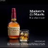 FILE- This file still frame image made from video provided by Maker\'s Mark Distillery Inc., shows a bottle of Maker\'s Mark in an advertisement. After a backlash from customers, the producer of Maker\'s Mark bourbon is reversing a decision to cut the amount of alcohol in bottles of its famous whiskey. (AP Photo/Marker\'s Mark Distillery Inc., File)