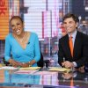 Photo - This image released by ABC shows anchor Robin Roberts, left, and George Stephanopoulos during a broadcast of
