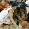 Oklahoma State\'s Brittney Martin (22) and Baylor\'s Jordan Madden (3) dive for the ball during a women\'s college basketball game between Oklahoma State University and Baylor at Gallagher-Iba Arena in Stillwater, Okla., Saturday, Feb. 2, 2013. Photo by Bryan Terry, The Oklahoman