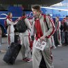 Oklahoma\'s Ryan Spangler arrives at the team hotel in Spokane, Wash., for the men\'s NCAA basketball championship tournament, Tuesday, March 18, 2014.Photo by Sarah Phipps, The Oklahoman