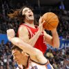 Oklahoma City\'s Nick Collison collides with Houston\'s Luis Scola during their NBA basketball game at the OKC Arena in downtown Oklahoma City on Wednesday, Nov. 17, 2010. Photo by John Clanton, The Oklahoman
