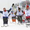 10ThingstoSeeSports - Mariann Marthinsen, right, of Norway, celebrates her gold medal as Tatyana Mcfadden, left, of United States, reacts to her second-place finish in the finals of the women\'s cross country 1km sprint, sitting event at the 2014 Winter Paralympic, Wednesday, March 12, 2014, in Krasnaya Polyana, Russia. (AP Photo/Dmitry Lovetsky, File)