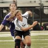 Verdigris\' Amy Crone gets ahead of Abby Odle in a race to the ball at the Oklahoma State 4A Girls Championship soccer game in between Bethany and Verdigris on Saturday, May 12, 2012, in Newcastle, Okla. Photo by Steve Sisney, The Oklahoman