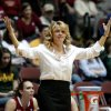 OU coach Sherri Coale reacts during the women\'s college basketball Big 12 Championship tournament game between the University of Oklahoma and Texas A&M in Kansas City, Mo., Friday, March 11, 2011. Photo by Bryan Terry, The Oklahoman