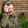 Elizabeth Colbert Bush, the sister of comedian Stephen Colbert, shares a laugh with reporters after voting in Mount Pleasant, S.C., on Tuesday, March 19, 2013. Colbert Bush is one of two Democrats running Tuesday in the Democratic primary in a special election to fill South Carolina\'s vacant 1st Congressional District seat. (AP Photo/Bruce Smith).