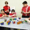 Members of the GT Rubik's Cube Club at Dove Science Academy Elementary School solve various types of cubes. They are, from left, fifth graders Nicholas Nieman, 10; Jose Calderon, 11; William Mlekush, 11; Dustin McWilliams, 11; Emanuel Carrizales, 11; and fourth grader Aeneas Freeman, 9. Photo by Paul B. Southerland, The Oklahoman