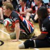 Britain\'s Prince Harry plays sitting volleyball with the United Kingdom team at a visit to the Warrior Games opening, Saturday, May 11, 2013 in Colorado Springs, Colo. The Warrior Games is a Paralympic-style competition featuring injured servicemen and women from the U.S., United Kingdom, Canada and Australia. (AP Photo/Rick Wilking, Pool)