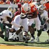 OSU\'s Kendall Hunter (24) rushes for a touchdown in the second quarter during the college football game between the Oklahoma State University Cowboys (OSU) and the Baylor University Bears at Boone Pickens Stadium in Stillwater, Okla., Saturday, Nov. 6, 2010. Photo by Nate Billings, The Oklahoman