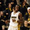 Photo - Missouri's DeMarre Carroll laughs after he was fouled while shooting during the first half of an NCAA basketball game against Texas Tech, Saturday, Jan. 24, 2009, in Columbia, Mo. Carroll had a game high 27 points in Missouri's 97-86 victory. (AP Photo/L.G. Patterson) ORG XMIT: MOLG105