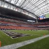 An interior view of the the stadium during the AdvoCare Texas Kickoff college football game between the Oklahoma State University Cowboys (OSU) and the Mississippi State University Bulldogs (MSU) at Reliant Stadium in Houston, Saturday, Aug. 31, 2013. OSU won, 21-3. Photo by Nate Billings, The Oklahoman