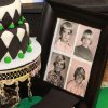 SURPRISING BLAKE...Blake Gibson\'s birthday cake with an argyle them. Golf decorations were also set around the room along with childhood pictures of Blake Gibson. (Photo provided).
