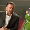 ADDS REFERENCE TO KERMIT THE FROG AS CONSTANTINE - This undated publicity photo released by Disney shows Ricky Gervais, left, as Dominic and Kermit the Frog as Constantine, right, from Disney\'s