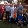 A few members of the Briarcreek clean-up crew pause for a photo op Saturday morning. Standing from left: John and Marilyn Smalley, Jon Heavener, Debbie Wanzer and Don Graves; seated Dan Orza, Patty Hurley and Cheryl Graves. Community Photo By: Carolyn Leonard Submitted By: Carolyn,