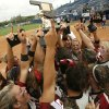 Tuttle players react after winning against Piedmont during the 4A fast pitch softball championship between Tuttle and Piedmont in Oklahoma City on Saturday, Oct. 6, 2007. By James Plumlee, The Oklahoman