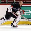 Ottawa Senators goalie Craig Anderson skates during hockey practice in Ottawa, Ontario, Sunday, May 12, 2013. The Senators are to face the Pittsburgh Penguins in round two of the NHL playoffs. (AP Photos/The Canadian Press, Fred Chartrand)