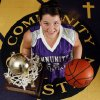 Chelsae Robison poses with a championship trophy at Community Christian School\'s gym in Norman, Oklahoma on Wednesday, February 13, 2008. BY STEVE SISNEY, THE OKLAHOMAN