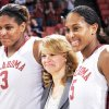 OU\'s Courtney Paris, left, and Ashley Paris pose for a photo with head coach Sherri Coale, middle, as the Paris twins were honored as part of senior night after the women\'s college basketball game between Texas Tech and the University of Oklahoma at the Lloyd Noble Center in Norman, Okla., Wednesday, March 4, 2009. OU beat Texas Tech, 61-49. BY NATE BILLINGS, THE OKLAHOMAN ORG XMIT: KOD