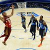 Western Conference\'s Russell Westbrook (0), of the Oklahoma City Thunder, elevates for a dunk past Eastern Conference\'s Dwyane Wade (3), of the Miami Heat, Carmelo Anthony (7), of the New York Knicks, Dwight Howard (12), of the Orlando Magic, and Western Conference\'s Chris Paul (3), of the Los Angeles Clippers, during the first half of the NBA All-Star basketball game, Sunday, Feb. 26, 2012, in Orlando, Fla. (AP Photo/Erik S. Lesser, Pool) ORG XMIT: DOA138