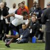 Wide receiver Cordarrelle Patterson works out for NFL scouts during pro day at tge University of Tennessee, Wednesday, March 20, 2013, in Knoxville, Tenn. (AP Photo/The Knoxville News Sentinel, Michael Patrick)