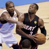Miami\'s Dwyane Wade (3) goes past Oklahoma City\'s Kevin Durant (35) during Game 2 of the NBA Finals between the Oklahoma City Thunder and the Miami Heat at Chesapeake Energy Arena in Oklahoma City, Thursday, June 14, 2012. Photo by Chris Landsberger, The Oklahoman
