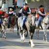Horses and riders participate in the Oklahoma State Cowboy\'s homecoming parade in downtown Stillwater, OK, Saturday, Oct. 29, 2011. By Paul Hellstern, The Oklahoman