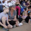 Lori Williams and Ayden, 7, watch an elephant presentation during Malee\'s Second Birthday Bash at the Oklahoma City Zoo, Sunday, April 14, 2013. Photo by Garett Fisbeck, For The Oklahoman