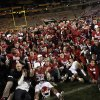 Oklahoma celebrates the Sooner\'s win in the Insight Bowl college football game between the University of Oklahoma (OU) Sooners and the Iowa Hawkeyes at Sun Devil Stadium in Tempe, Ariz., Friday, Dec. 30, 2011. Photo by Sarah Phipps, The Oklahoman