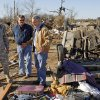 From left, Col. Robbie Asher, chief of staff for the Oklahoma National Guard, Albert Ashwood, director of the Oklahoma Department of of Emergency Management, and Gov. Brad Henry survey tornado damage at the Bar K Mobile Home Park in Lone Grove, Okla., Wednesday, February 11, 2009. On Tuesday, February 10, 2009, a tornado moved through Lone Grove killing at least eight people. BY NATE BILLINGS, THE OKLAHOMAN