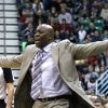 Sacramento Kings head coach Keith Smart shouts to his team in fourth quarter during an NBA basketball game against the Utah Jazz, Monday, Feb. 4, 2013, in Salt Lake City. The Jazz defeated the Sacramento Kings 98-91 in overtime. (AP Photo/Rick Bowmer)
