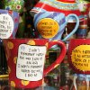 Mugs and goblets with sayings on them. Available at Oh! My Gosh in Northpark Mall in Oklahoma City. By Jim Beckel, The Oklahoman.