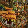 In this Monday, March 3, 2014 photo, performers from the Beija Flor samba school parade on a float during carnival celebrations at the Sambadrome in Rio de Janeiro, Brazil. (AP Photo/Felipe Dana)
