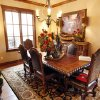 The formal dining room fits the traditional design and theme of the home at 15820 Chapel Ridge Lane in The Abbey at Fairview Farms. The Symphony Show House fundraiser,
