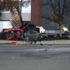 Photo - FILE - This Nov. 30, 2013 file photo released by the Los Angeles County Sheriff Department on Tuesday, March 25, 2014, shows the wreckage of a Porsche that crashed into a light pole in Valencia, Calif. Crash investigators have determined that the car carrying