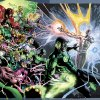 """Photo -  The image provided by DC Entertainment shows the illustration for the cover of """"Green Lantern"""" No. 20, due out in May, which is the last issue written by Geoff Johns. He is leaving the book after nearly nine years of writing Green Lantern titles to focus on DC Entertainment's family of Justice League titles and Aquaman, too. (AP Photo/DC Entertainment) ORG XMIT: NY129"""