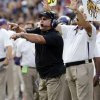 TCU head coach Gary Patterson gives instructions to his team during the college football game between the University of Oklahoma Sooners (OU) and the Texas Christian University Horned Frogs (TCU) at Amon G. Carter Stadium in Fort Worth, Texas, on Saturday, Dec. 1, 2012. Photo by Steve Sisney, The Oklahoman