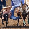 Barrett Hebert of Bell City, La. dives from his horse in the steer wrestling event during the second day of the International Finals Youth Rodeo at the Shawnee Expo Center on Tuesday, July 15, 2008, in Shawnee, Okla. Staff Photo By CHRIS LANDSBERGER