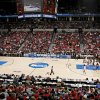 The crowd watches during the NCAA women\'s basketball tournament game between Oklahoma and Pittsburgh at the Ford Center in Oklahoma City, Sunday, March 29, 2009. PHOTO BY BRYAN TERRY, THE OKLAHOMAN