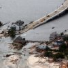 The view of storm damage over the Atlantic Coast in Seaside Heights, N.J., Wednesday, Oct. 31, 2012, from a helicopter traveling behind the helicopter carrying President Obama and New Jersey Gov. Chris Christie, as they viewed storm damage from superstorm Sandy. (AP Photo/Doug Mills, Pool) ORG XMIT: NJPM110