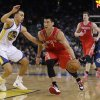 Houston Rockets\' Jeremy Lin (7) tries to dribble past Golden State Warriors\' Stephen Curry (30) during the first half of an NBA basketball game in Oakland, Calif., Tuesday, Feb. 12, 2013. (AP Photo/Marcio Jose Sanchez)