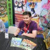 Tulsa artist Dustin Evans at a comic-book convention. Photo provided.