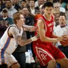 Houston\'s Yao Ming, right, tries to get past Robert Swift of the Thunder during the NBA basketball game between the Oklahoma City Thunder and the Houston Rockets at the Ford Center in Oklahoma City, Monday, Nov. 17, 2008. BY NATE BILLINGS, THE OKLAHOMAN ORG XMIT: KOD