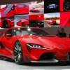 Photo - The Toyota FT-1 concept is unveiled during media previews during the North American International Auto Show in Detroit, Monday, Jan. 13, 2014. (AP Photo/Paul Sancya)