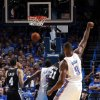 Oklahoma City\'s Serge Ibaka (9) watches his basket during Game 3 of the Western Conference Finals in the NBA playoffs between the Oklahoma City Thunder and the San Antonio Spurs at Chesapeake Energy Arena in Oklahoma City, Sunday, May 25, 2014. Photo by Bryan Terry, The Oklahoman