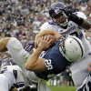Photo -   Penn State running back Zach Zwinak (28) dives into the end zone past Northwestern linebacker David Nwabuisi (33) for a second quarter touchdown during an NCAA football game in State College, Pa., Saturday, Oct. 6, 2012. (AP Photo/Gene J. Puskar)