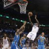 Oklahoma City Thunder\'s Reggie Jackson (15) drives through the New Orleans defense during the NBA basketball game between the Oklahoma City Thunder and the New Orleans Hornets at the Chesapeake Energy Arena on Wednesday, Feb. 27, 2013, in Oklahoma City, Okla. Photo by Chris Landsberger, The Oklahoman