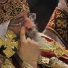 Pope Tawadros II, the 118th pope of the Coptic Church of Egypt, leads a midnight Mass on the eve of Egyptian Orthodox Christmas at St. Mark\'s Cathedral in Cairo, Egypt, late Sunday, Jan. 6, 2013. (AP Photo/Amr Nabil) ORG XMIT: AMR103