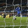 Photo -   Chelsea's Daniel Sturridge, right, scores during the English League Cup soccer match between Chelsea and Manchester United at Stamford Bridge Stadium in London Wednesday, Oct. 31, 2012. (AP Photo/Matt Dunham)