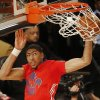 West Team\'s Anthony Davis, of the New Orleans Pelicans (23) dunks the ball against the West Team during the NBA All Star basketball game, Sunday, Feb. 16, 2014, in New Orleans. (AP Photo/Bill Haber)